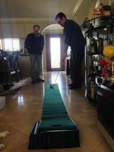 My dad and Chris practicing their golf game. My heart explodes looking at this picture.